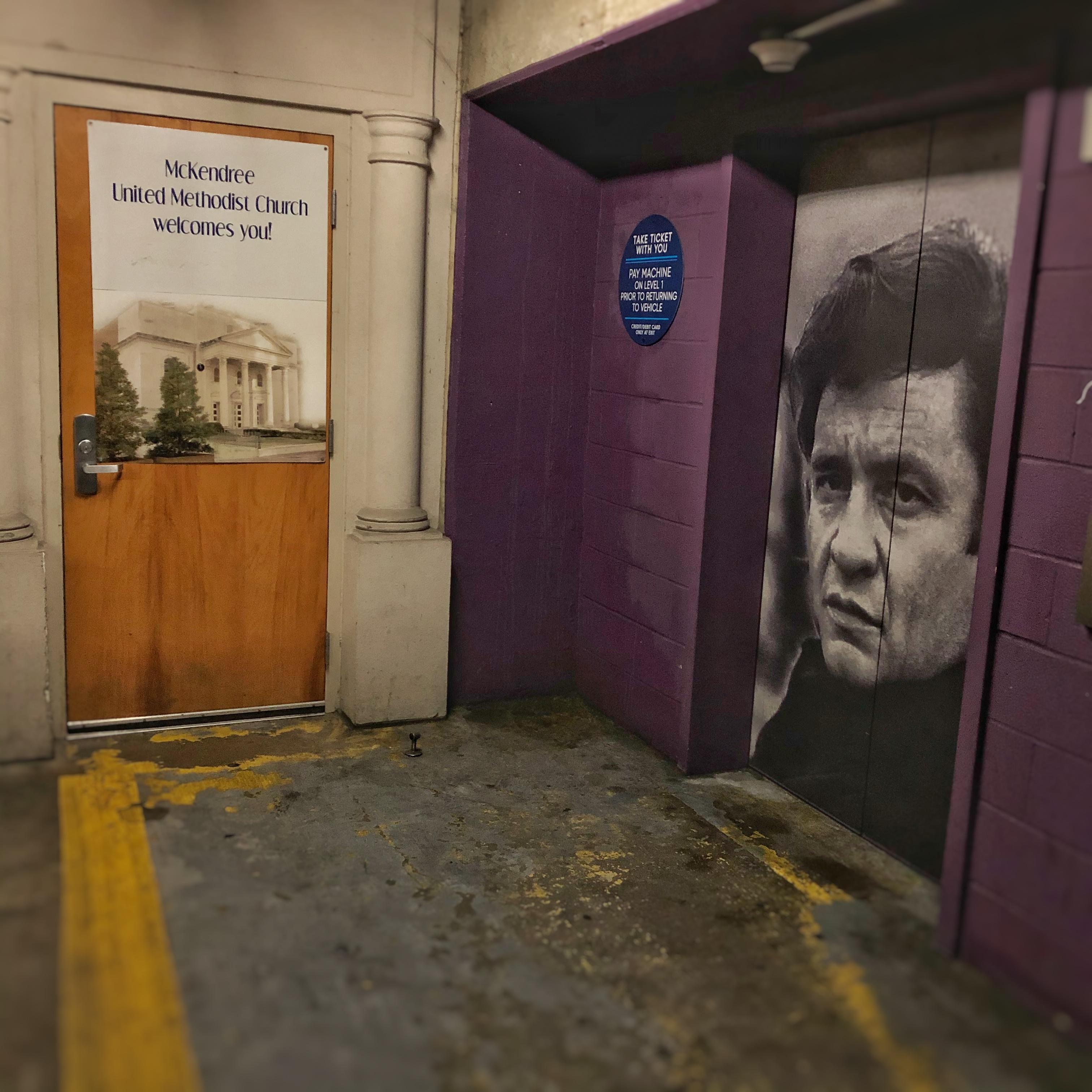 Johnny Cash Elevator at McKendree UMC